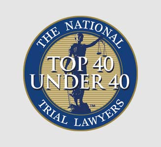 Top 40 under 40 trial lawyers badge Maher and Maher Law in Colorado Springs